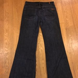 7 For All Mankind dark wash Ginger jeans